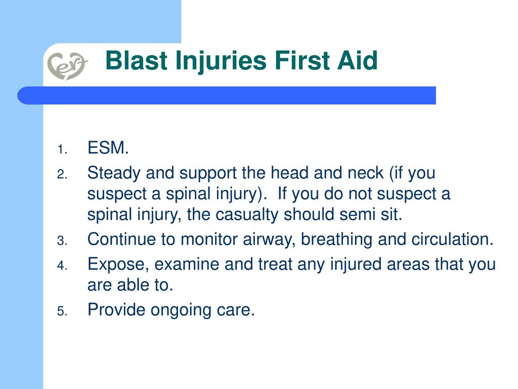 Blast Injuries First Aid